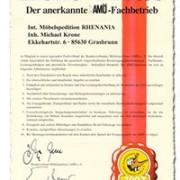 Anerkannter AMÖ Fachbetrieb - Zertifikat
